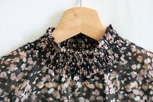 Load image into Gallery viewer, Dark Blooms Printed Mock Neck Blouse