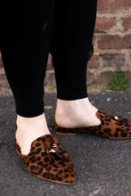 Load image into Gallery viewer, leopard slip-on shoes. bohemian slip-on's with tassels