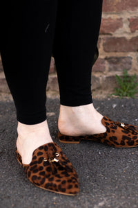leopard slip-on shoes. bohemian slip-on's with tassels