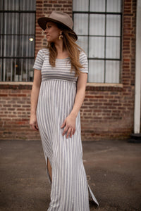Stipped Cali Maxi Dress