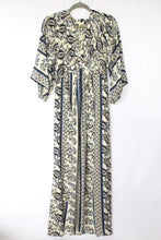 Load image into Gallery viewer, bohemian dresses with knot tie on the front. boho Kimono