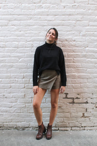 Gertrude Button Mini Skirt