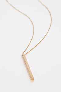 Kelly Brass Bar Necklace