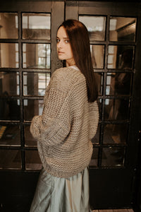 Oversized Olive Cable Knit Sweater
