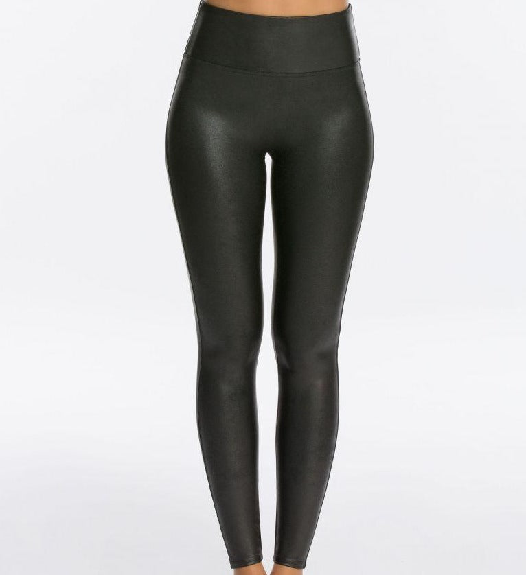 Spanx Faux Leather Legging-Black