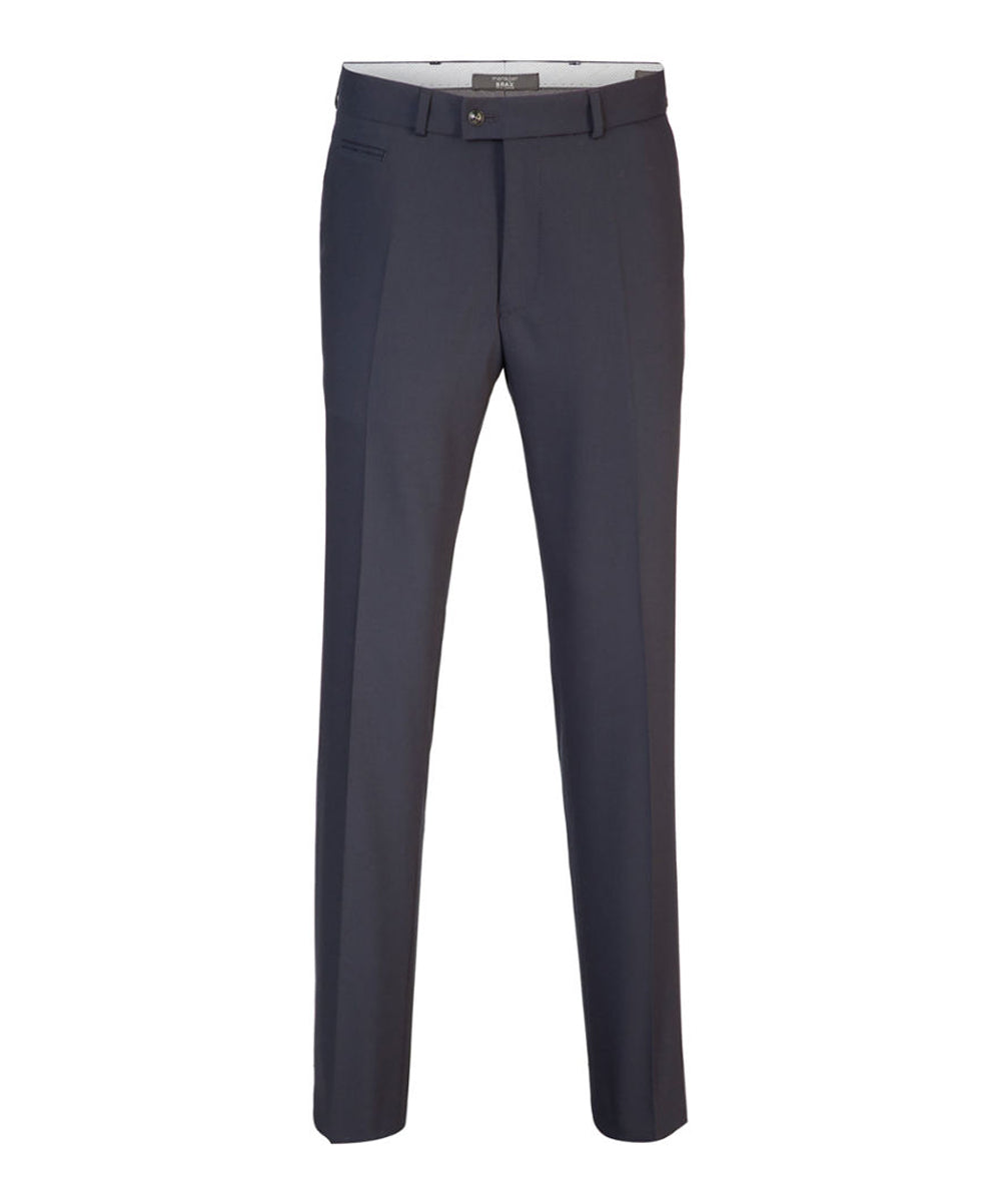 Brax Manager Wool Blend Flat Front Trouser