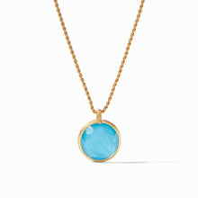 Load image into Gallery viewer, Julie Vos Coin Statement Pendant-Iridescent Pacific Blue
