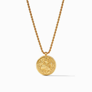 Julie Vos Coin Statement Pendant-Iridescent Pacific Blue