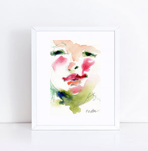 Avery, Watercolor Abstract 4 x 6 with 8 x 10 Mat