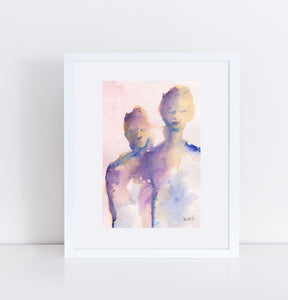Bachelor Girls, Original Watercolor by Corinne Galla