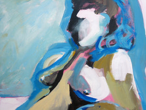 Blue Nude Seated