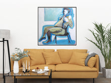 Load image into Gallery viewer, Blue Nude Seated