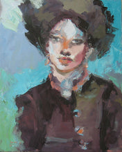 Load image into Gallery viewer, Fur Hat, Original Oil Portrait by Corinne Galla