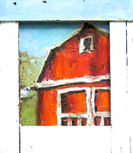 Load image into Gallery viewer, Rustic barn oil painting by Corinne Galla
