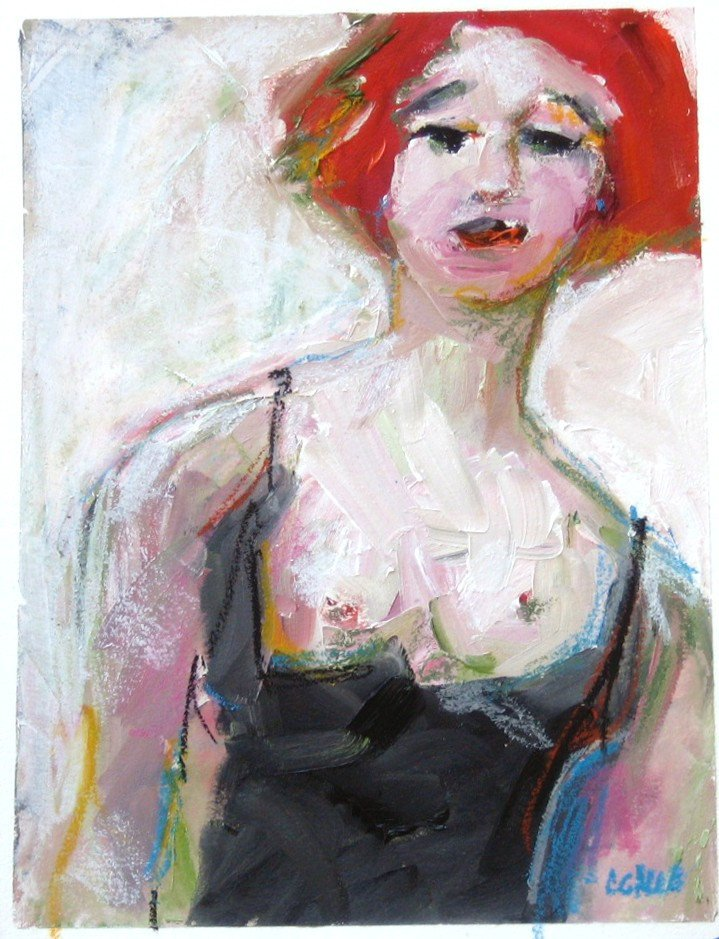 Black Corset, 9 x 12, Oil Painting on Paper