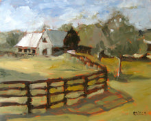 "Load image into Gallery viewer, Serenbe Farm, 20"" x 16"" Oil on Canvas"