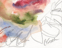 Load image into Gallery viewer, Watercolor portrait close up.