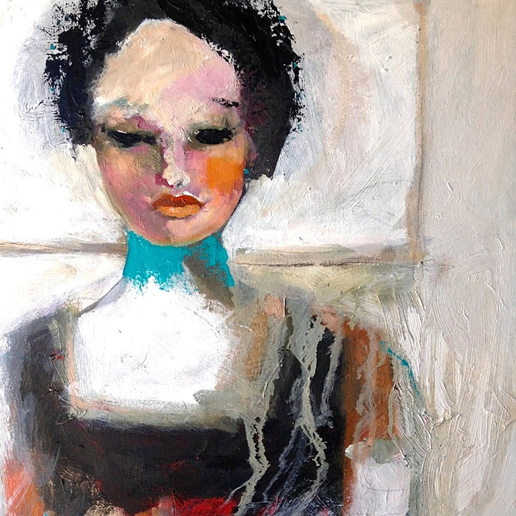 Abstract female portrait by Corinne Galla