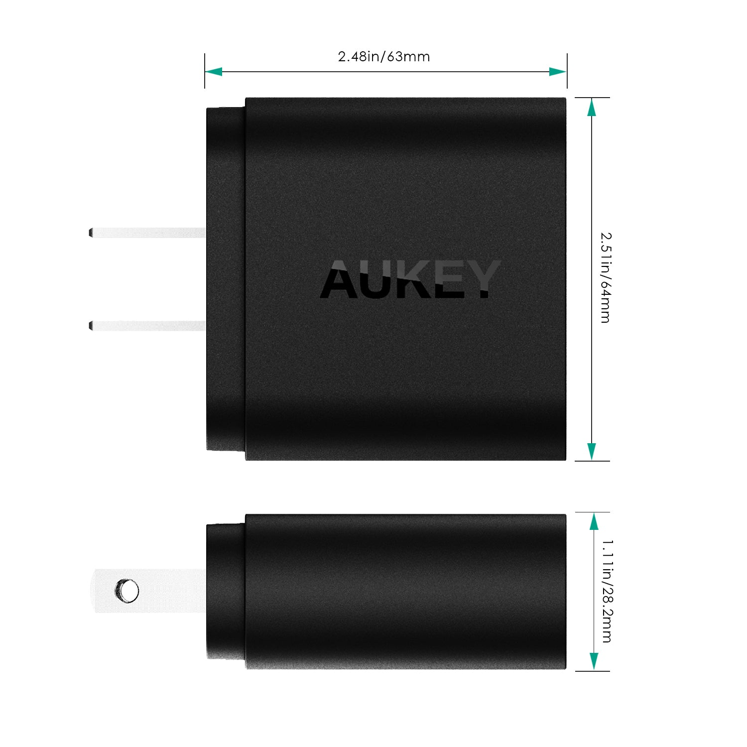 AUKEY PA-T13 Quick Charge 3.0 Dual-port 33W Wall Charger