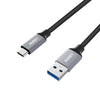 AUKEY Quality Braided Nylon USB3.0 to USB-C Cable / CB-CD3Grey / Cable