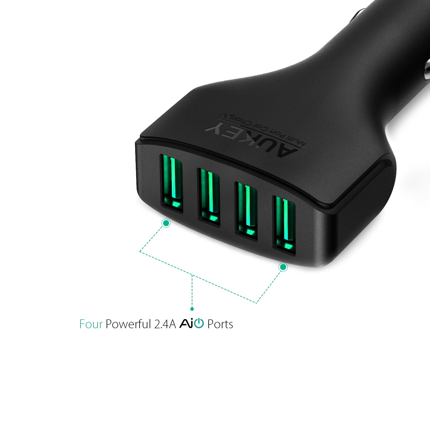 AUKEY CC-01 4-Port 48W AiPower Car Charger