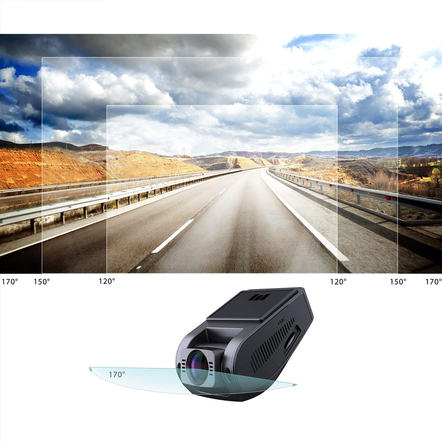 AUKEY DR-02 Car Dash Camera (Car Black Box) 1080p