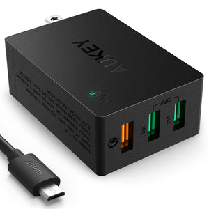 AUKEY PA-T14 Quick Charge 3.0 3-Port 42W Wall Charger