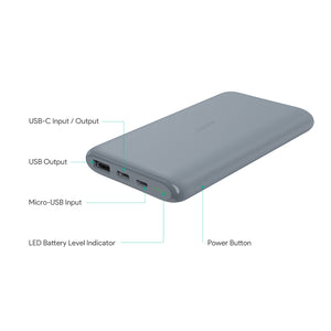 AUKEY PB-XN10 (Gray Color) 10000mAh USB-C Power Bank