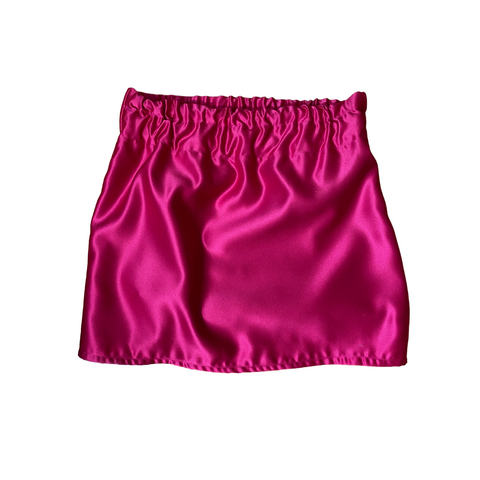 Pink Barbie inspired mini skirt with thick elastic waist band shiny iridescent party skirt