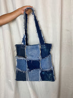 Distressed Denim Tote 006