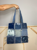 Distressed Denim Tote 012
