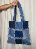 Distressed Denim Tote 008