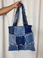 Distressed Denim Tote 007