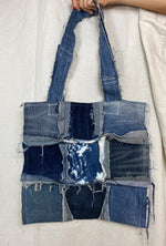 Distressed Denim Tote 002