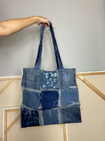Distressed Denim Tote 013