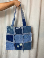 Distressed Denim Tote 010