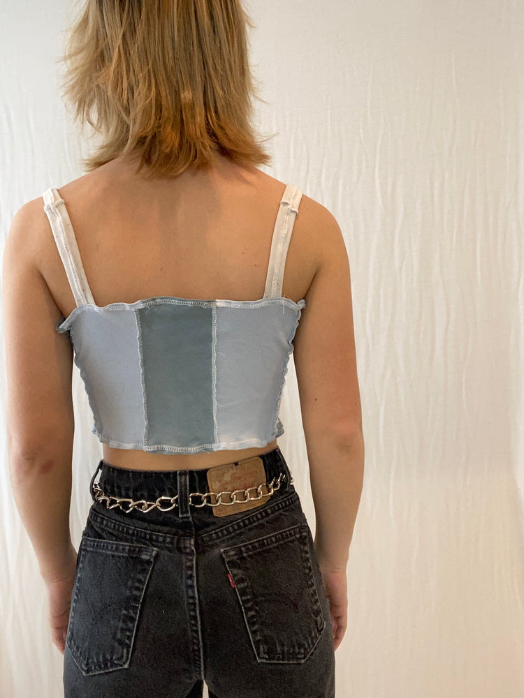 Pod Top- Upcycled Corset Tank Top