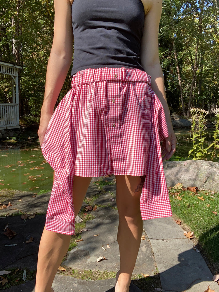 Picnic Tie Front Skirt