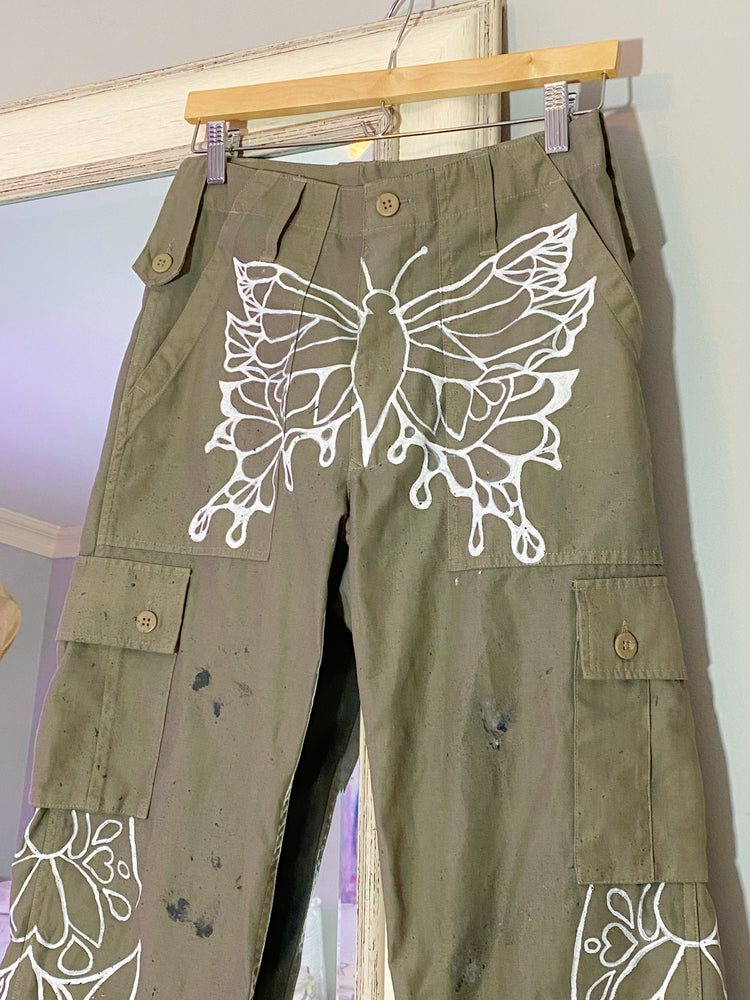 Butterfly Cargo Pant 001 (hand painted)