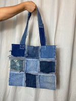 Distressed Denim Tote 011
