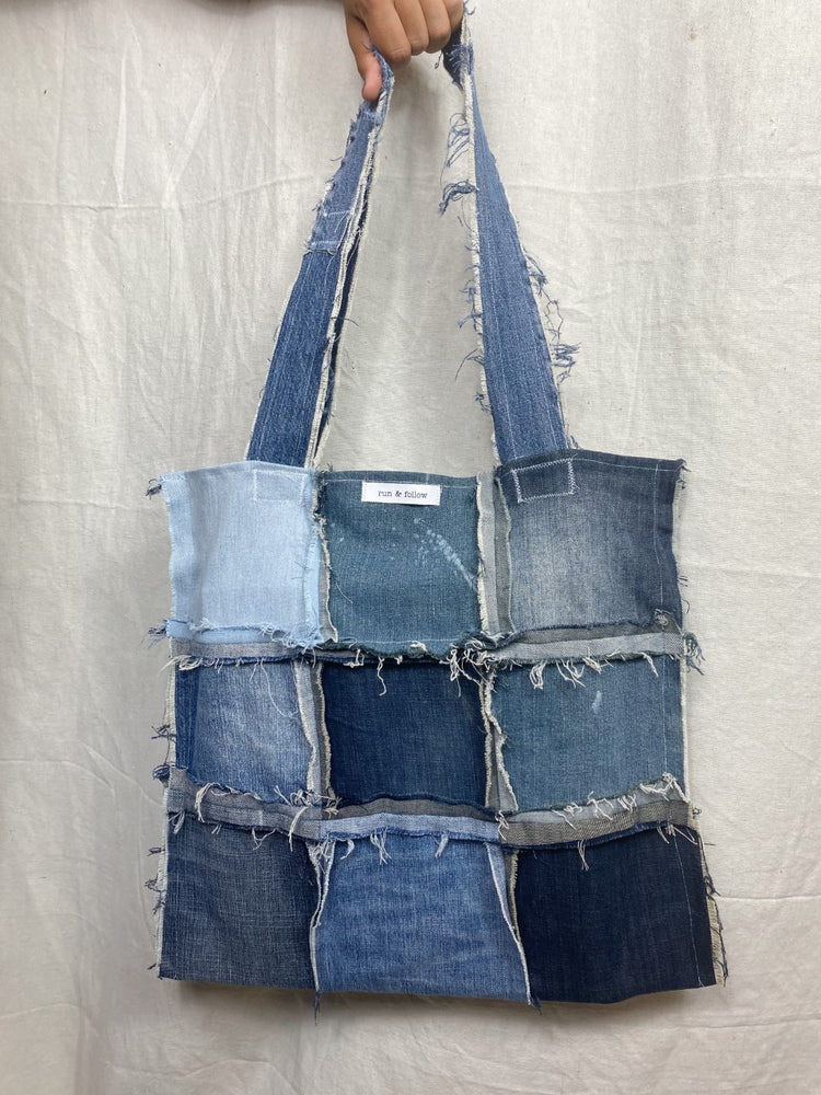 Distressed Denim Tote 003