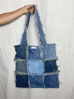 Distressed Denim Tote 004