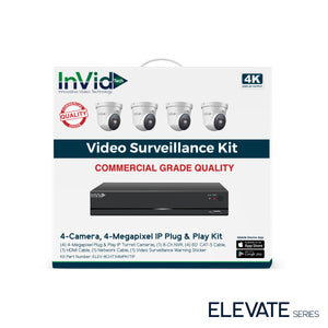ELEV-8CHTX4MPKITIP: 4 Camera, 4-Megapixel IP Plug & Play Kit