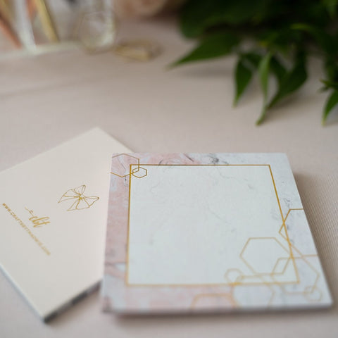 CBT Signature Gold Marble Sticky Note Pad