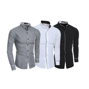 Combo of 3 New Fashion Skin Care Fight Color Long Sleeve Shirts for Men