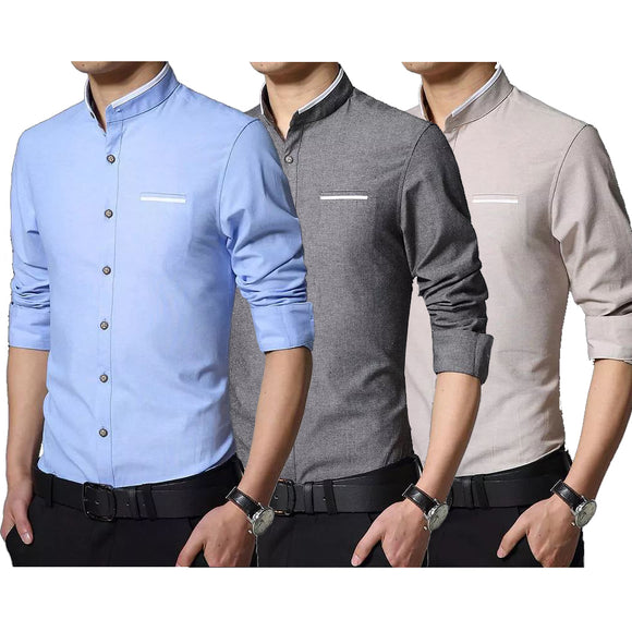 Men Long Sleeved Shirt