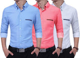 Combo of 3 New Branded Fashionable Long Sleeves Polka Dot Casual Shirts