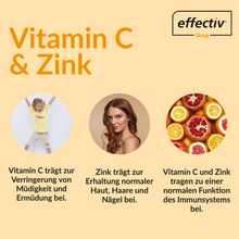 Laden Sie das Bild in den Galerie-Viewer, Vitamin C + Zink