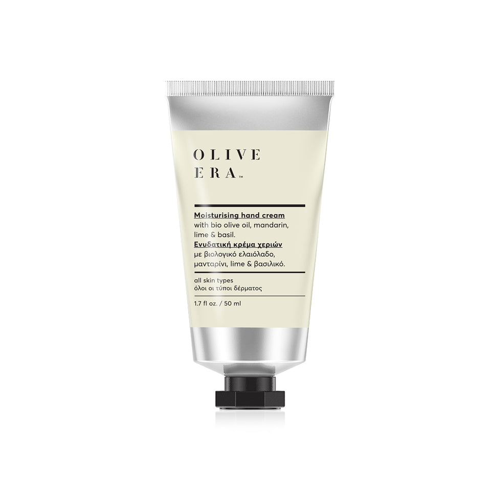 Hand cream with bio olive oil, mandarine, lime & basil 50ml