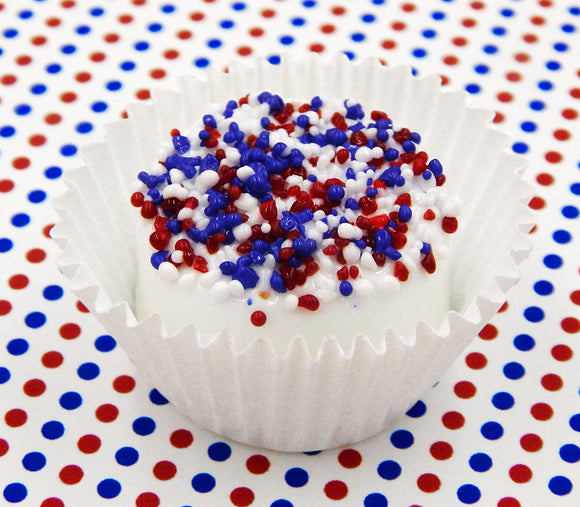 Patriotic White Chocolate with Red, White & Blue Sprinkles